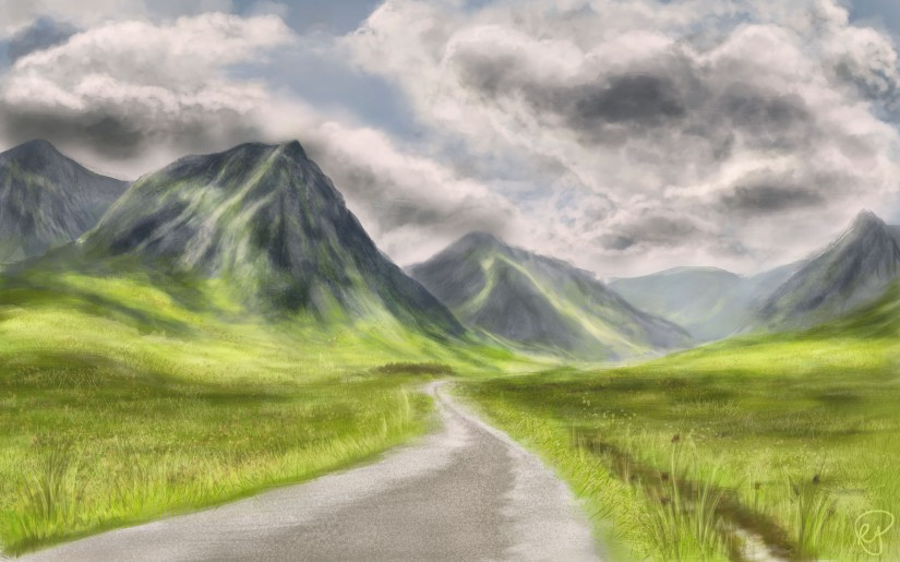 Glen Etive Speed Paint